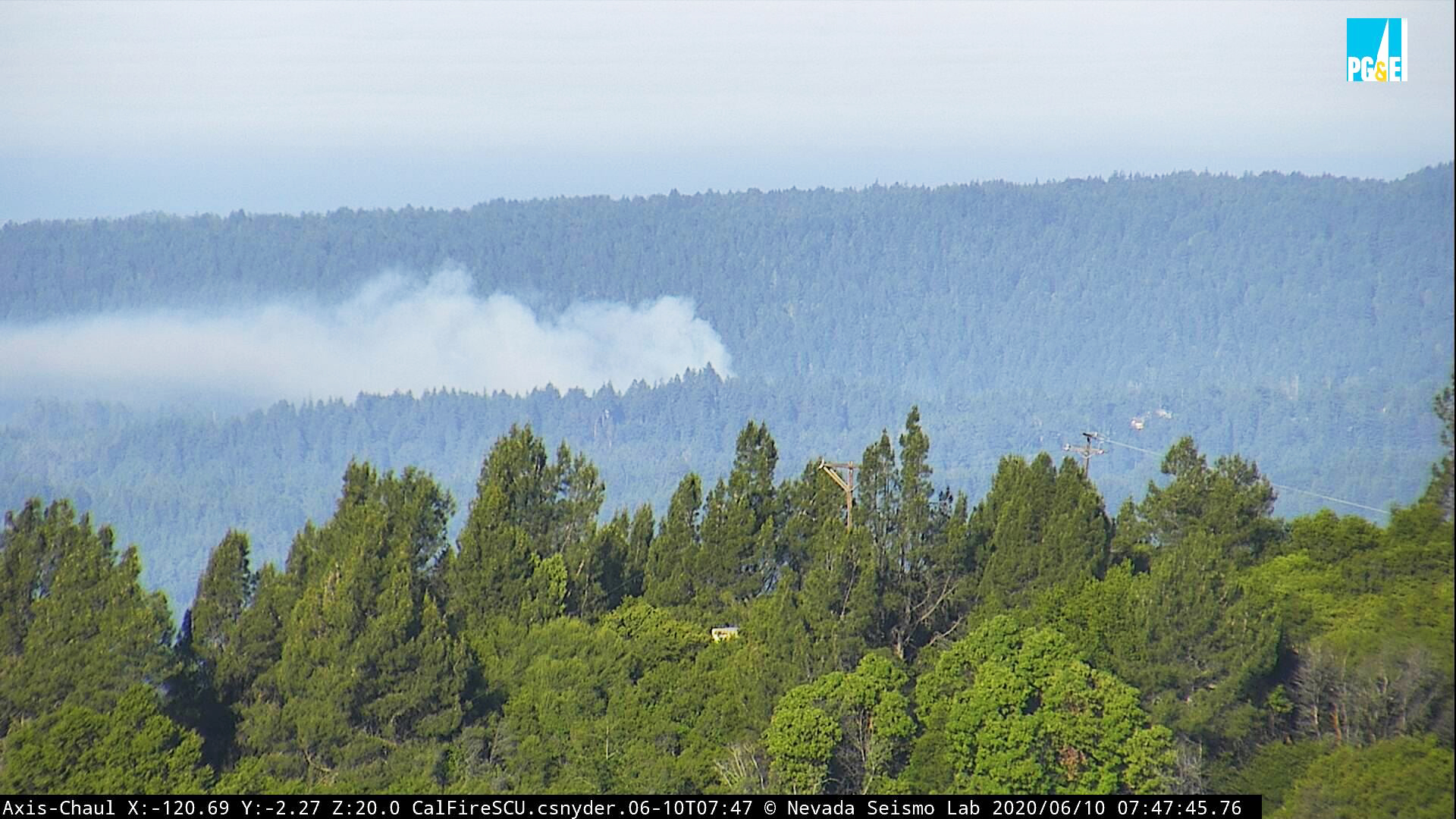 Henry Cowell Redwoods State Park fire
