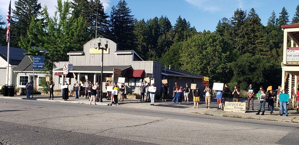 Black Lives Matter protest in Boulder Creek