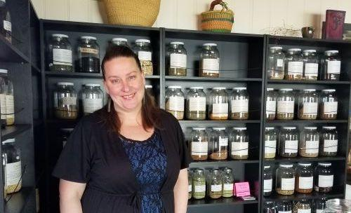 Jen Padgett Aum Herbs Apothecary downtown Boulder Creek