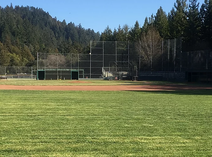 San Lorenzo Valley High School baseball field Spring 2020