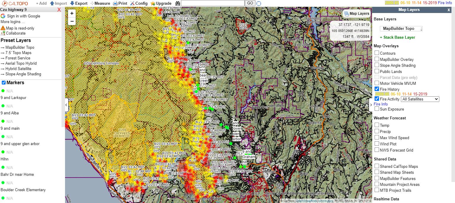 caltopo fire map