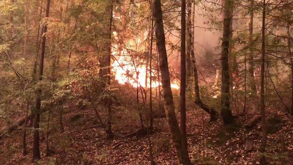 Jamison Creek fire August 2020