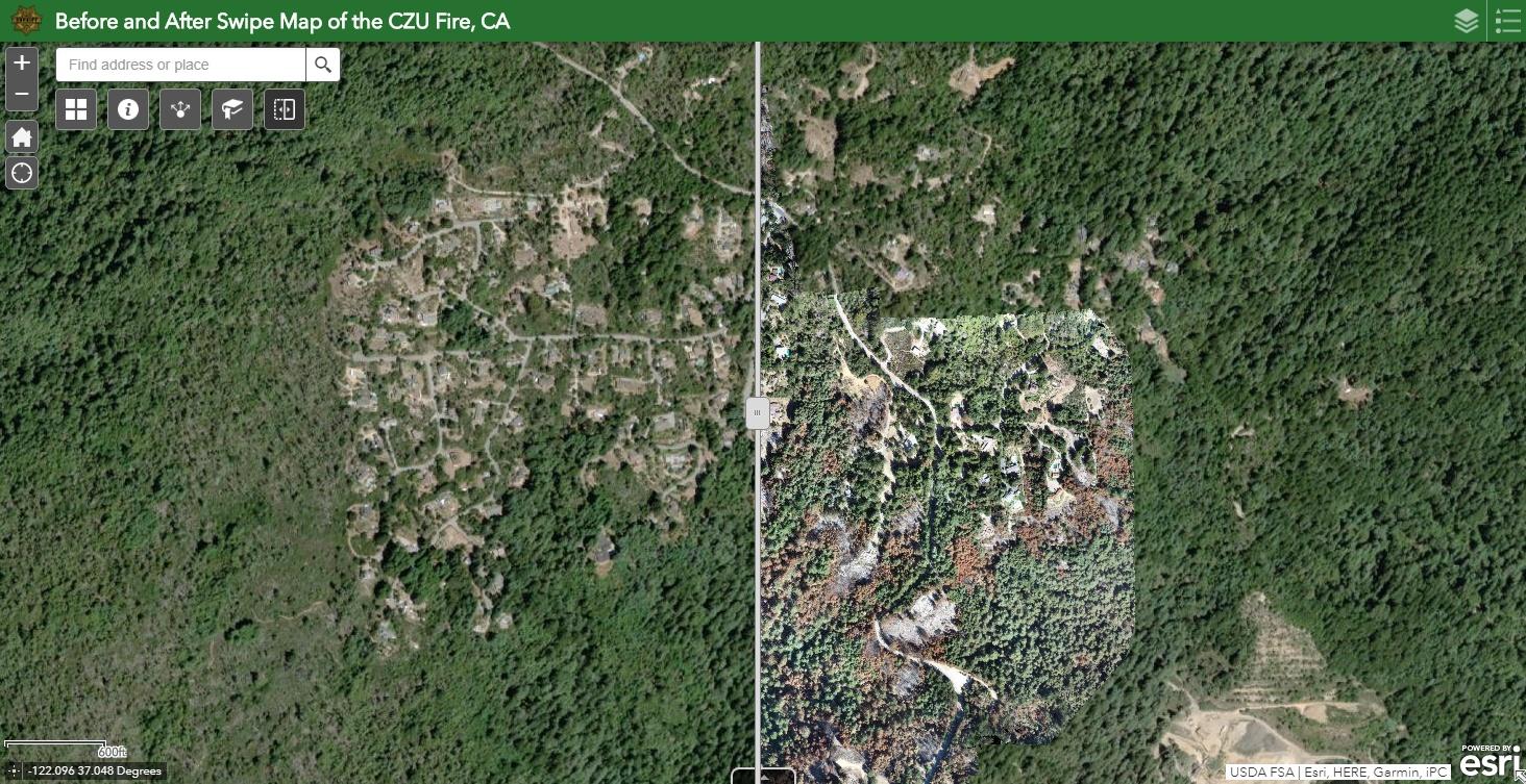 CZU Fire Drone Imagery