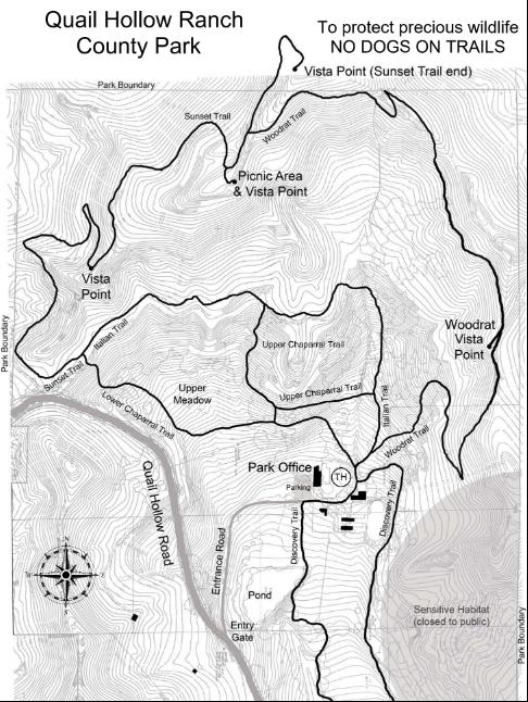 Quail Hollow Ranch Park map Felton California