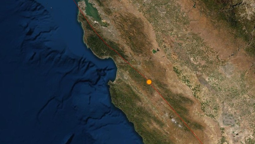 USGS earthquakes Central Coast California Soledad Pinnacles