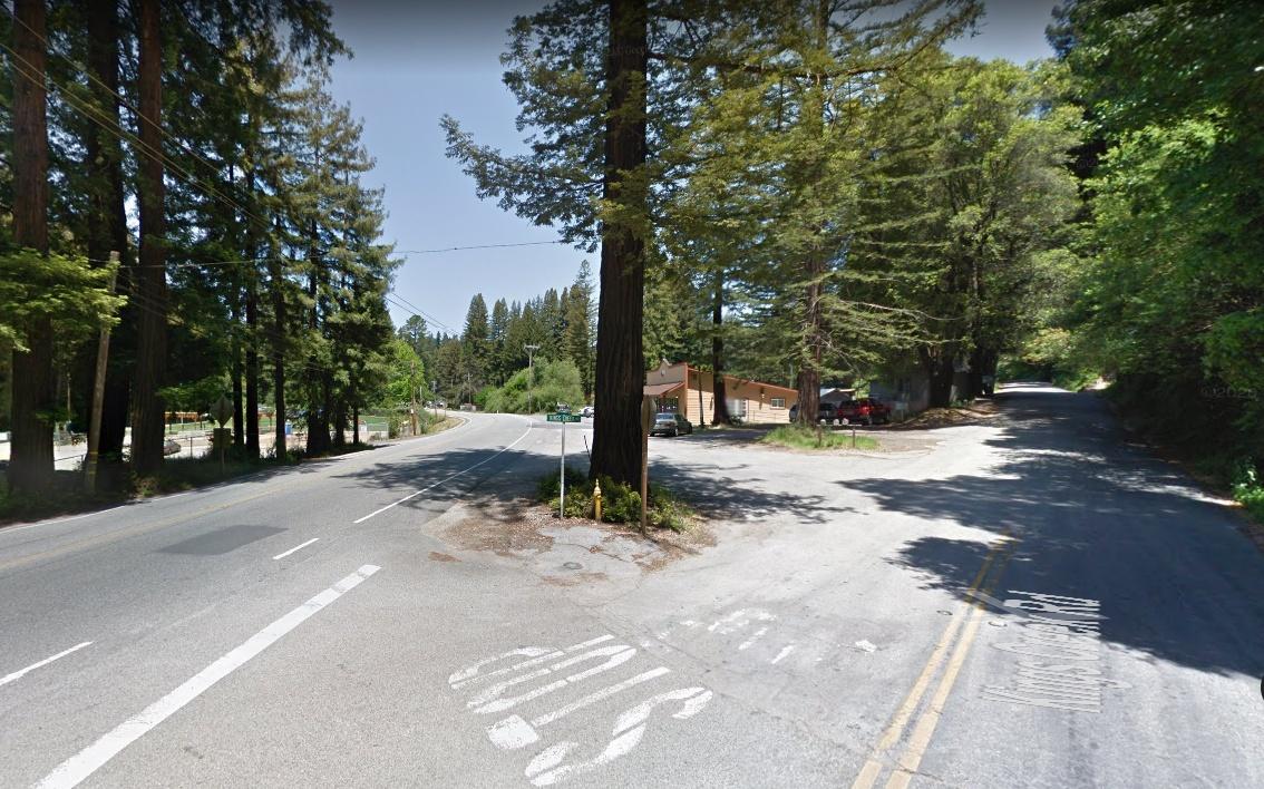 Kings Creek Road at Highway 9 Boulder Creek