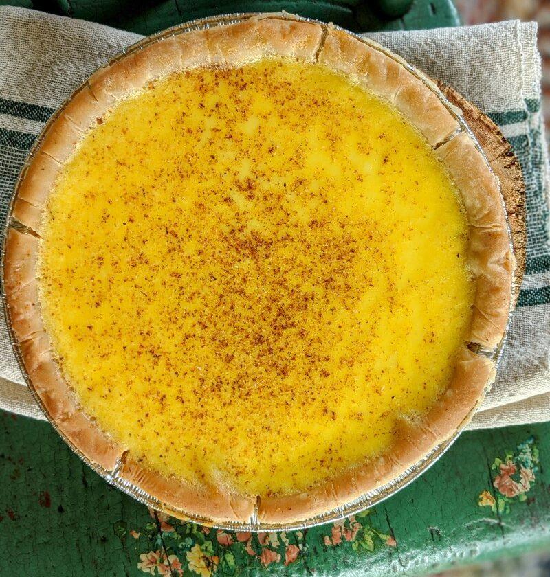 Egg custard pie