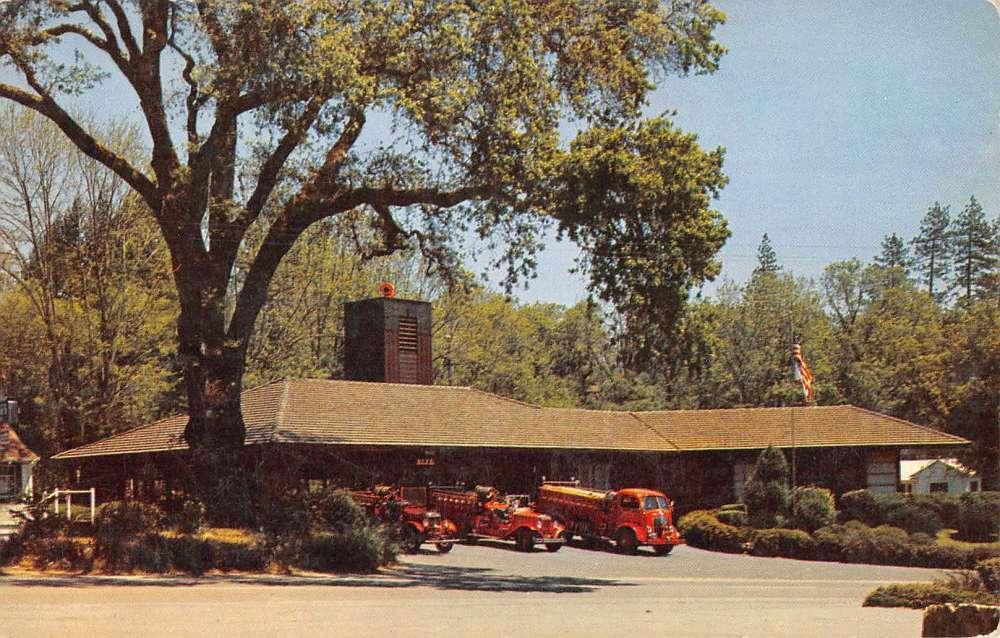 Ben Lomond Fire station vintage photograph