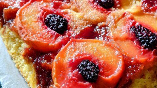 Peach Berry Corn Cakes with Bourbon