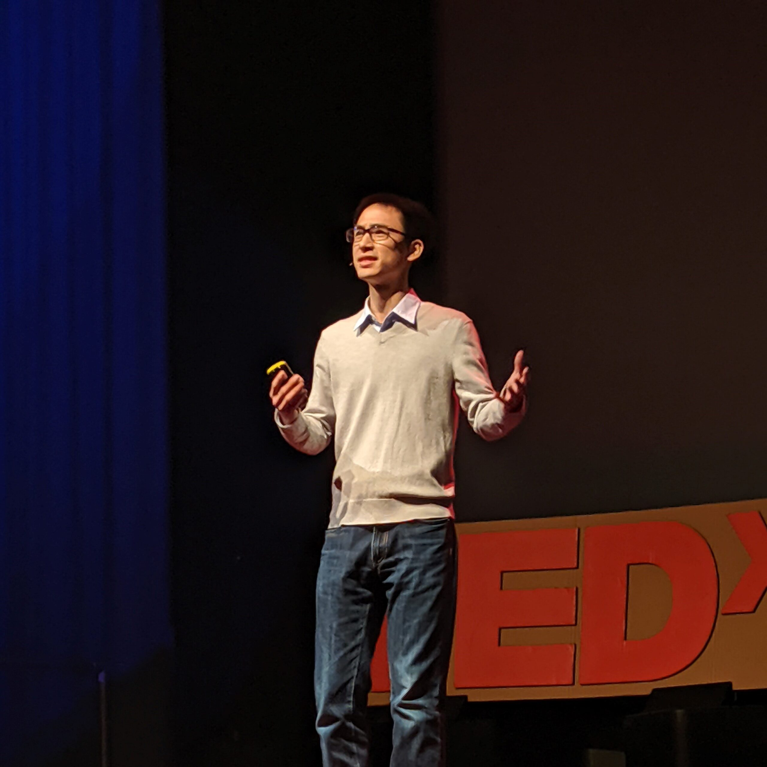 UCSC professor David Lee TEDx Santa Cruz photo by Mary Andersen